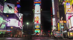 Time lapse of Times Square. Zoom out. Manhattan, New York. United States. Stock Footage