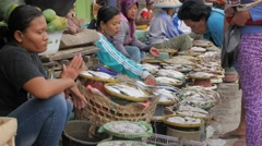Fish market in old harbour,Semarang,Java,Indonesia Stock Footage