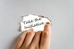 Take the initiative text concept Stock Photos