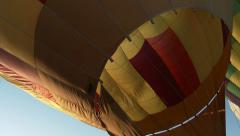 Hot Air Balloon Being Inflated and Raised - stock footage