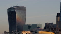 Pan Across the City of London Stock Footage