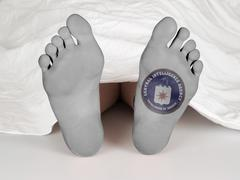 Dead body - stock photo