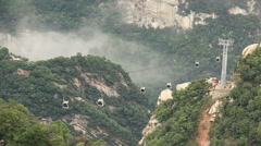 Stock Video Footage of Cableway Huashan Mountains