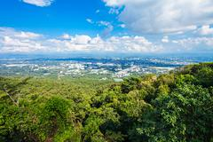 Chiangmai aerial view - stock photo