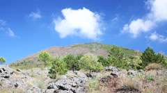 Vesuvius volcan - stock footage