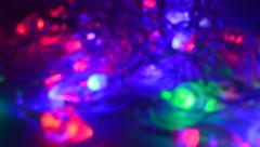 Christmas light out of focused Stock Footage