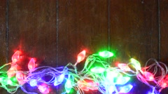 Stock Video Footage of Christmas light