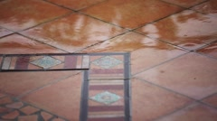 Raining on the floor Stock Footage