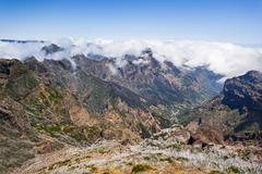 Trekking on Madeira island Stock Photos