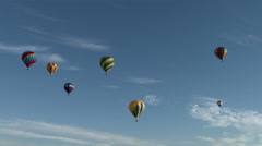 Seven Hot Air Balloons Stock Footage
