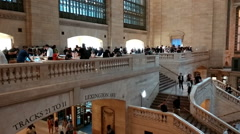 The panning view of peoples at the Grand Central train station, Manhattan Stock Footage