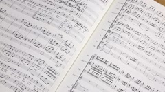 Sheet music Stock Footage