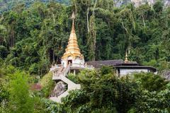 Wat Tham Pha Plong Stock Photos