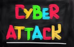 Cyber Attack Concept - stock illustration