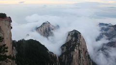 Highest Point Huashan Mountains - stock footage