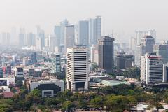 Jakarta aerial view - stock photo