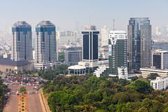 Jakarta aerial view Stock Photos