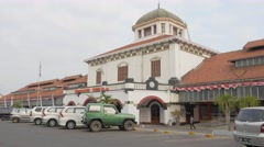 Railway station in Kota,Semarang,Java,Indonesia Stock Footage