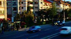 Otopeni, near Bucharest, Romania - October2015 Traffic on national highway Stock Footage