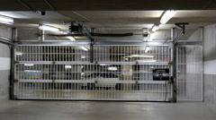 Motion of garage door opening - stock footage