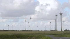 Wind farm in Northern Germany Stock Footage