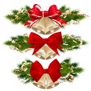 Stock Illustration of Delicate Christmas ornaments. EPS 10