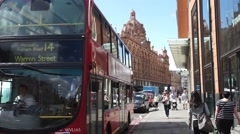 Harrods Department store, London, Stock Video. Stock Footage