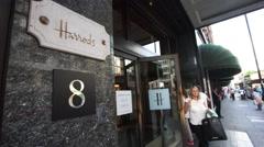 Harrods Department store, London, Stock Video. Stock Footage