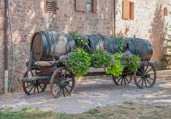 casks on a carriage - stock photo