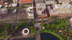 Aerial Washington Spokane Stock Footage