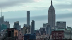 USA New York City 381 nice daybreak mood Manhattan Midtown Empire State Building Stock Footage