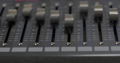Digital audio mixer with automatic fader Stock Footage