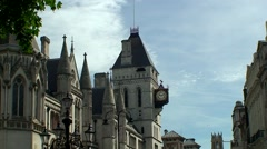 Royal Courts of Justice London Stock Footage