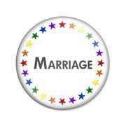 Same-sex Marriage Button Stock Illustration