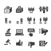 democracy icon - stock illustration
