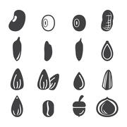 nut and seed icon - stock illustration