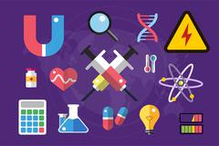 Science lab icons isolated vector set Piirros