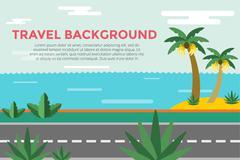 Beautiful colorful summer seascape illustration Stock Illustration