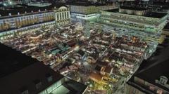 Striezelmarkt Dresden Christmas Market Timelapse Germany 14 Stock Footage