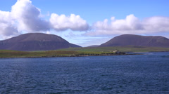 A remote island near the Orkney Islands of Scotland. - stock footage