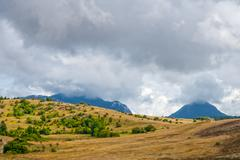 Inner Istra, Mediterranean landscape Stock Photos