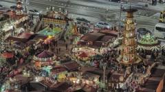 Striezelmarkt Dresden Christmas Market Timelapse Germany 15 Stock Footage