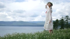 Girl ethnic wear - stock footage