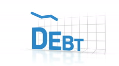 Decreasing debt visualization Stock Footage