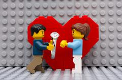 Marriage proposal - stock photo