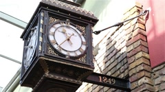 Old clock from stables market, London Stock Footage