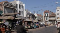 Entrance to Pasar Pabean vegetable market,Surabaya,Java,Indonesia Stock Footage