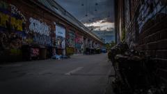 Timelapse Berlin, Kreuzberg, Graffiti Stock Footage