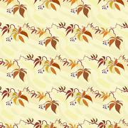 Seamless pattern with autumn wild grape Stock Illustration