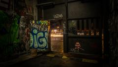 Timelapse Berlin, Kreuzberg, Night, Graffiti Stock Footage
